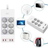 Умный Wi-Fi сетевой фильтр удлинитель 6 розеток + 4 USB ZLD-64EU-W
