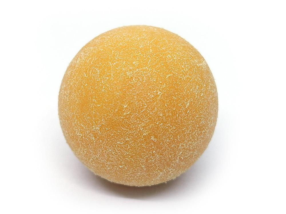 М'яч для настільного футболу Artmann 35мм жовтий ворсистий