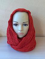 Ажурный женский шарф-петля