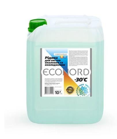 Теплоноситель для отопления пропиленгликолевый премиум Бишофит, ECONORD -30, 10л