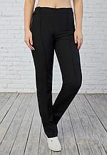 Синие и черные женские медицинские брюки коттоновые больших размеров 60-64