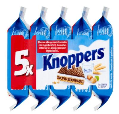 Вафли Knoppers 5 х 25g