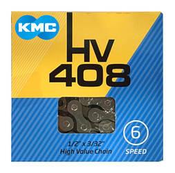 Цепь KMC HV408 для 6 скоростных трансмиссий велосипеда