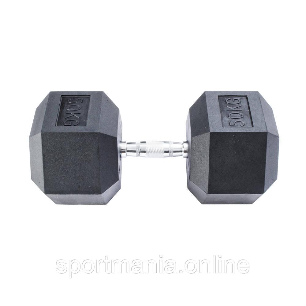 Гантель гексагональна InterAtletika 50 кг MD2102-50