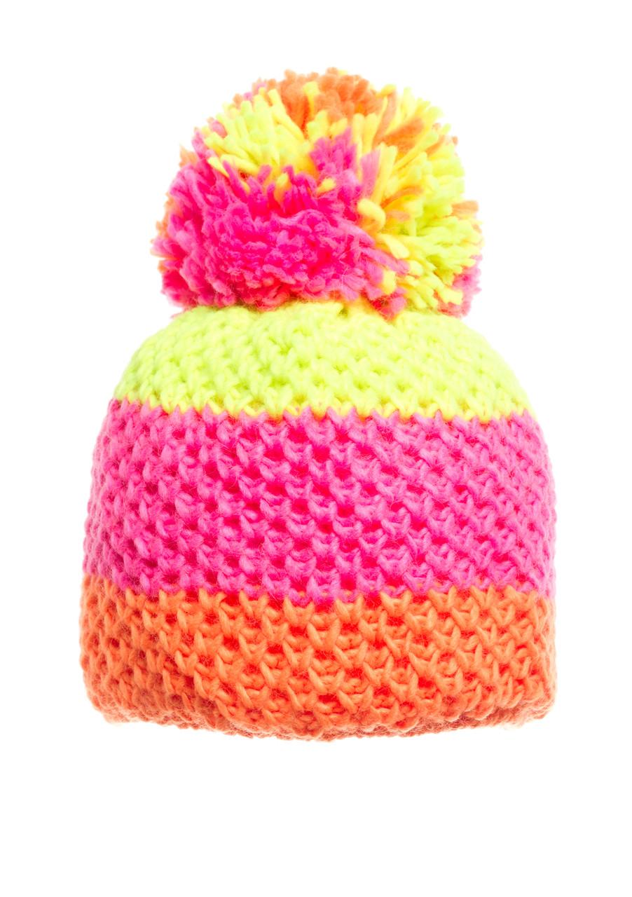 Детская вязанная шапочка с бумбоном Starling.