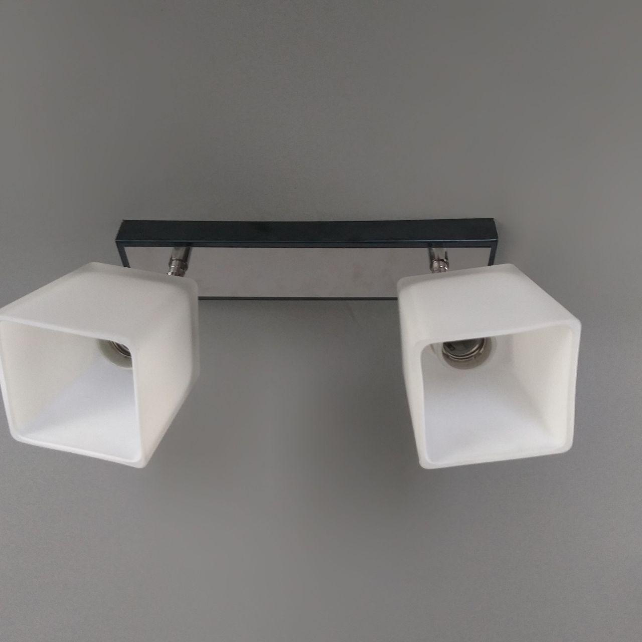 Люстра потолочная на 2 лампы 06-51203/2 CR+черн.жемчуг(ZZH)+WT