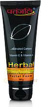 Пенка для умывания лица с активированным углем, 60г/ Activated Carbon Face Foam, 60 g, Patanjali
