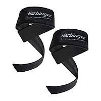 Лямки Harbinger Big Grip No-Slip Nylon Lifting Straps DuraGrip Black (20500, с неопреновой вставкой)