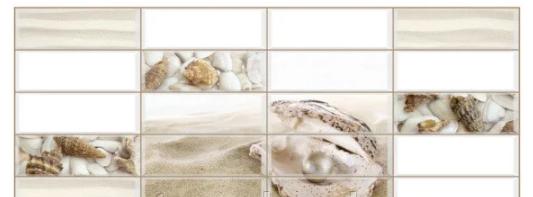 Декоративная Настенная Панель ПВХ Grace (Плитка жемчужина)