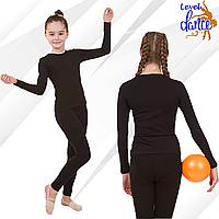 Комплект спортивный футболка с длинным рукавом и лосины. Одежда для хореографии и гимнастики