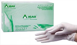 Медицинские перчатки (латексные, одноразовые, нестерильные) Размер М