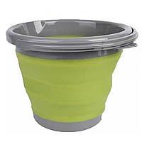 Складное силиконовое ведро 5л Collapsible Bucket