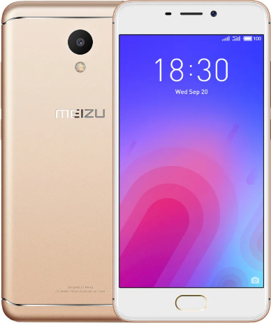 Смартфон мейзу безрамочный, тонкий с ЖСМ+СДМА на 2 sim Meizu M6 M711H 2/16Gb gold Global Version