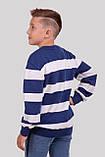 Класний джемпер в смужку для хлопчиків 128-152р, фото 3