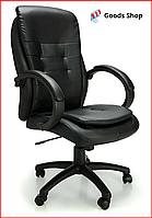 Кресло офисное NordHold 7000P мягкое компьютерное качественное офисное с механизмом качания tilt черное