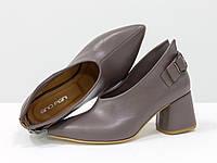 Дизайнерские туфли перчатки из натуральной кожи, сиреневые 36-41, фото 1