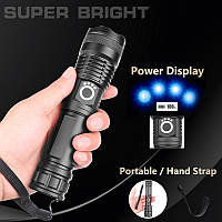 Потужний ручний ліхтар Police X71-HP50, ЗУ microUSB, фото 1
