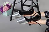Женские кожаные черные балетки, фото 3