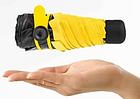 Универсальный зонт мини-зонт в фетровом чехле  Black Lemon Exclusive Желтый, фото 4