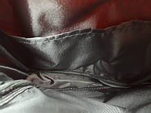 Сумка мужская на плечо эко кожа черно-красная небольшая на один отдел 202122, фото 3
