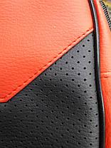 Сумка мужская на плечо эко кожа черно-красная небольшая на один отдел 202122, фото 2