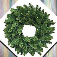 """Венок новогодний еловый на дверь из искусственной хвои""""Альпийский"""" d-70 см, заготовка рождественская"""