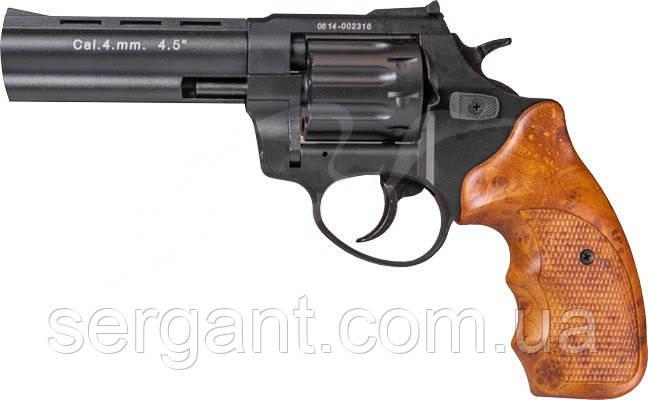 "Револьвер флобера STALKER 4.5"". Материал рукояти - коричневый пластик"