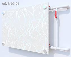Скляний екран на радіатор