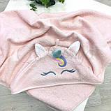 Полотенце-уголок Единорог розовый, фото 4