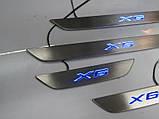 BMW X6 F16 Накладки на пороги з підсвічуванням LED поріжки, фото 2