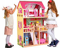 Кукольный домик барби с мебелью! Подарок +LED освещение.Игровой кукольный домик для барби