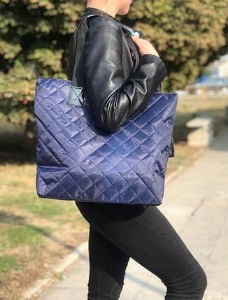 Женская сумка стеганая BR-S синяя (1265426068), фото 2