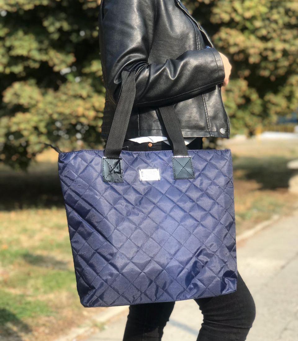 Женская сумка стеганая BR-S синяя (1265426068)