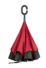 Зонт Навпаки Up-brella - Парасольку Зворотного Складання   Бордовий, фото 4