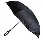 Зонт Навпаки Up-brella - Парасольку Зворотного Складання   Бордовий, фото 5