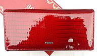 Кожаный красный кошелек женский лаковый на кнопке Balisa B826-38