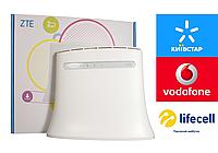 Zte mf283u роутер 3G 4G LTE WiFi модем MIMO mf283+ mf 283 4 LAN порта Ethernet Rj45 Киевстар Vodafone Lifecell