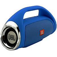 Портативная Bluetooth колонка JBL Boombox mini СИНЯЯ + ПОДАРОК:Нескользящий коврик для телефона. Размер 11*9