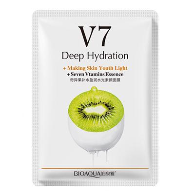 Тканевая витаминная маска для лица Bioaqua v7 toning youth mask Киви