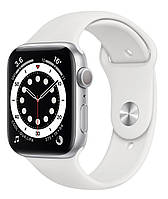 Apple Watch Series 6 44mm Silver Aluminum Case with White Sport Band (M00D3), фото 1