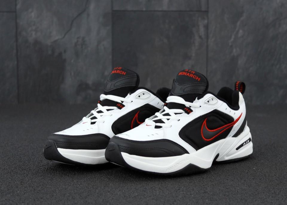 Мужские кроссовки Nike Air Monarch white / black