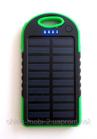 Power bank solar 10000 mAh + зарядка от солнечной батареи  зеленая, фото 2