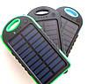 Power bank solar 10000 mAh + зарядка от солнечной батареи  зеленая, фото 3