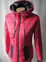 Молодежные куртки с капюшоном и карманами., фото 1
