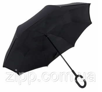 Зонт Навпаки Up-brella - Парасольку Зворотного Складання   Чорний