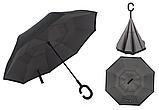 Зонт Наоборот Up-brella - Зонт Обратного Сложения   Черный, фото 2