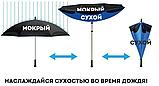Зонт Наоборот Up-brella - Зонт Обратного Сложения   Черный, фото 6