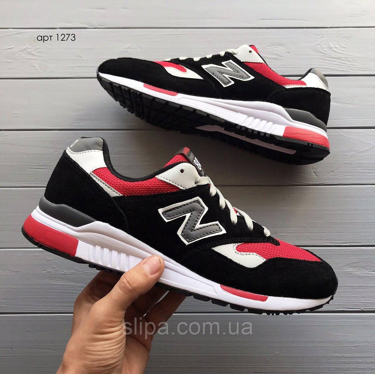 Мужские кроссовки New Balance 840 чёрные с красным