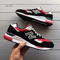 Мужские кроссовки New Balance 840 чёрные с красным, фото 1
