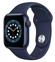 Apple Watch Series 6 44mm Blue Aluminum Case with Deep Navy Sport Band (M00J3)